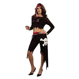 Reír Y Confeti - Ficpir029 - Para adultos traje - Traje Corsario Cabeza De La Muerte - Mujeres - Talla L