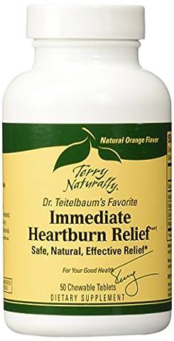 Immediate Heartburn Relief EuroPharma (Terry Naturally) 50 Tab Chewable