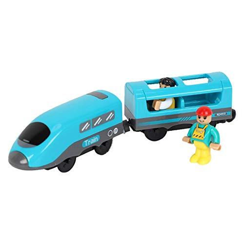 Spielzeugeisenbahn Kinder Elektrisch Weihnachten Elektrisch Sprachsendung Elektrische Zug Spielzeug Kompatibel Mit Schienenfahrzeugen Aus Holz, 22x4,7cm