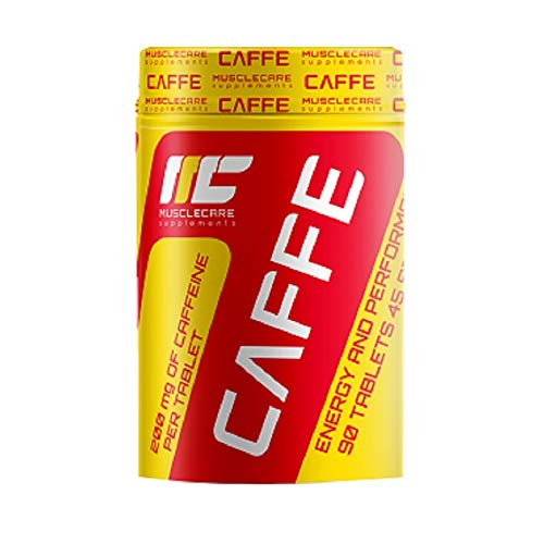 Muscle Care supplements I-NC, Muscle Care Caffe, Muscle Care Caffe, 200 mg Koffein pro Tablette, Energie und Leistung, 90 TAB -