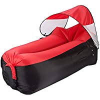 YJchairs Lazy Sofa-Folding Schlafsack Sonnenschirm Portable Dual-Use Strandbett (Farbe : Red) preisvergleich bei kinderzimmerdekopreise.eu