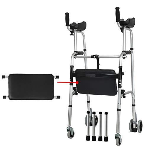 SXFYMWY Klappbare Walker-Mehrfach-Multifunktion Walg Aluminum Alloy für ältere Behinderte,D