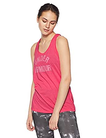 Under Armour Threadborne Train Wood Mark Women's Sports T-Shirt (1290612-683_XS_Pink Shockand Metallic Silver)