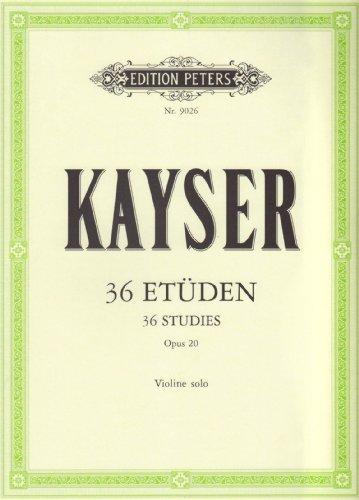 36 Etüden op. 20: für Violine