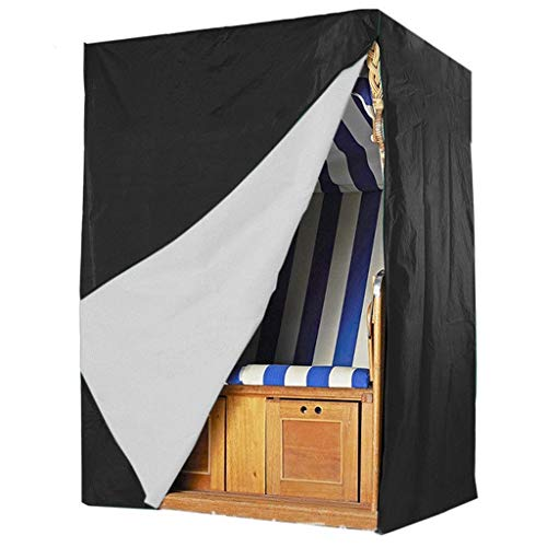 Möbelschutzhülle Schaukel Staubschutz grenzüberschreitend für Outdoor Strandkorb Gartenmöbel Schaukel 210D Oxford Tuch wasserdicht 130 * 100 * 170cm (Size : 130 * 100 * 170cm)