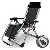 LCTCDD Fauteuil de salon verrouillable pour terrasse Zero Gravity XL inclinable...
