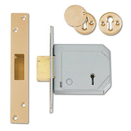 Boxed Satin Chrome UNNJ2277SC30 Union Locks 2277 3 Lever