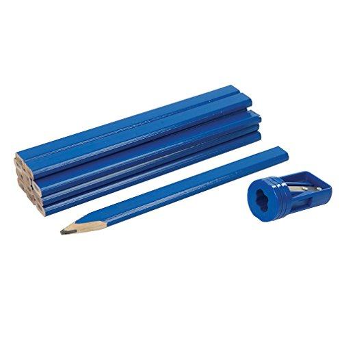 Silverline 250227 - Lápices para carpintero y sacapuntas, 13 pzas
