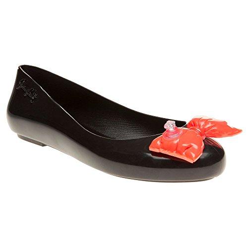 Melissa + Jeremy Scott Js Space Love Bow Mujer Zapatos Negro