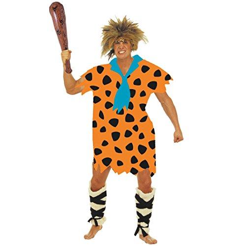 Fred Feuerstein Kostüm Herrenkostüm XL 54/56 Urmensch Höhlenmensch Steinzeit Verkleidung Flinstones Karnevalskostüm Neandertaler (Feuerstein Perücke Fred)