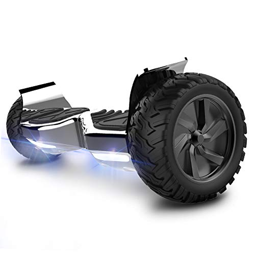 COLORWAY Electric Scooter All Terrain 8.5'' Off Road Skateboard Self Balancing Built-in Bluetooth Speakers with APP and UK Charger