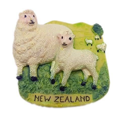 Lamm Schafe Alpaka Neuseeland 3D Kühlschrank Kühlschrankmagnet Travel City Souvenir Collection Küche Dekoration Whiteboard Aufkleber Harz