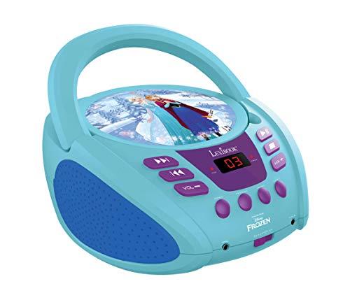 Lexibook Disney Frozen La Reine des Neiges Elsa Radio lecteur CD,Entrée line-in, Pile ou Secteur, Bleu/Blanc, RCD108FZ_10