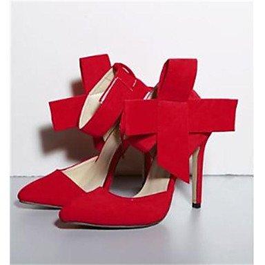 SANMULYH Scarpe Donna Terylene Primavera Estate Della Pompa Base Tacchi Stiletto Heel Punta Per Il Casual Nero Rosso Verde Blu Rosa Rosso