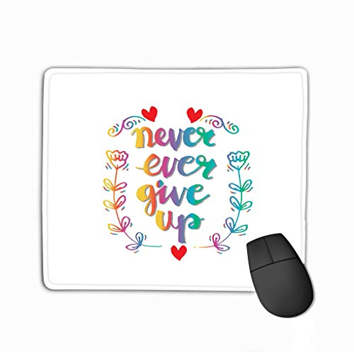 Mouse pad Never Ever give up Inspiration steelseriesKeyboard