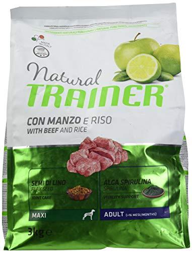 Trainer Natural Maxi Manzo Riso kg. 3 Cibo Secco per Cani, Multicolore, Unica