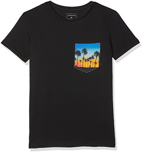 Quiksilver Jungen SSQUADROGLIDEY B TEES KVJ0 Screen Tee, Anthracite - Solid, L/14 (Youth Beach T-shirt)