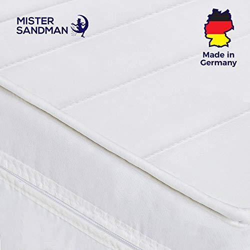 Mister Sandman orthopädische 7-Zonen-Matratze für besseren Schlaf - Kaltschaummatratze H2/H3 mit ergonomischen Liegezonen und Mikrofaserbezug - (90 x 200 cm, H2) -