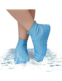 Toriox Silicone Outdoor Non-slip Waterproof Shoe Covers Portable Rain Boots Rainproof Shoes Cover Men Women Teens Anti-sand Shoe Cover 1 Pair