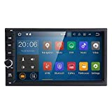 Universal 2 Din Car Auto Radio GPS Navigation,hizpo 7 inch Touchscreen Android 9.0 OS 2GB RAM In Dash MultiMedia Player Wifi BT Support DAB+/Digital TV/OBD2/DVR/TPMS/4G Network