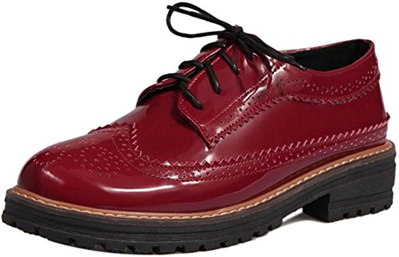 RAZAMAZA Zapatos Oxfords de Tacon Bajo para Mujer
