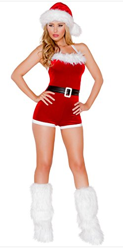 Honeystore 2017 Neuheiten Damen Sexy Weihnachtsmann Kostüm Elfe Weihnachten Santa Weihnachtsfrau Rot LC7276