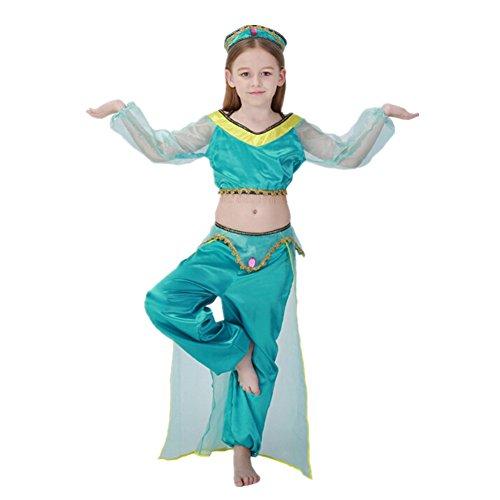 Disfraz de Princesa Arabe Para Ninas Cosplay Halloween Carnaval disfraz de bailarina Talla M