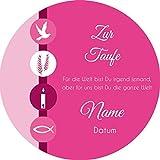 Tortenaufleger Taufe7 pink/ 20 cm Ø