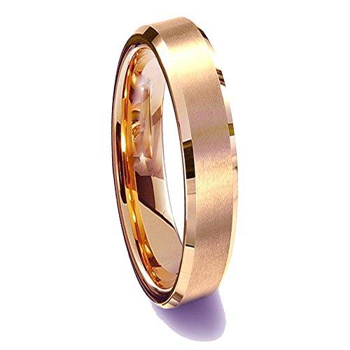 Gemini Damen-Ring Titan , Herren-Ring Titan , Freundschaftsringe , Hochzeitsringe , Eheringe, Farbe: Rotgold Breite 5mm Größe 64 (20.4)