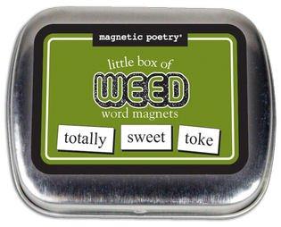 Poesía magnética - cajita de palabras, Little Box of Weed, 1.75' x 2.25' x 5'