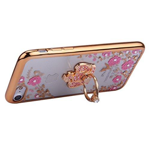 iPhone SE Case Slim,iPhone SE Hülle Transparent,iPhone SE Hülle Glitzer,iPhone 5S Clear Flüssige Hart Case Hülle Klare Plastik Gel Schutzhülle Rückschale Etui für iPhone 5,iPhone 5S Hülle Kreative Liq Flower TPU 6