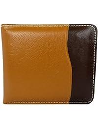 Apki Needs Mens Wallet Stylish, Fashionable Tan & Black Wallet