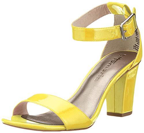 Tamaris Damen 1-1-28018-22 Riemchensandalen, Gelb (Citrus PATENT 615), 38 EU (Gelbe Schuhe Mit Absätzen Für Frauen)