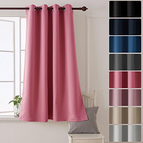 Deconovo tenda oscurante termica isolante con occhielli per cameretta bambini 100% poliestere 132x160 cm rosa un pannello