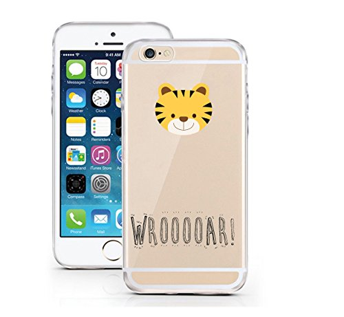 "licaso® iPhone 6 6S 4,7"" TPU Tierchen Panda Hülle Sketch Unicorn Case transparent klare Schutzhülle Disney Hülle iphone6 Tasche Cover (iPhone 6 6S 4,7"", Tierchen Panda) Tierchen Tiger"