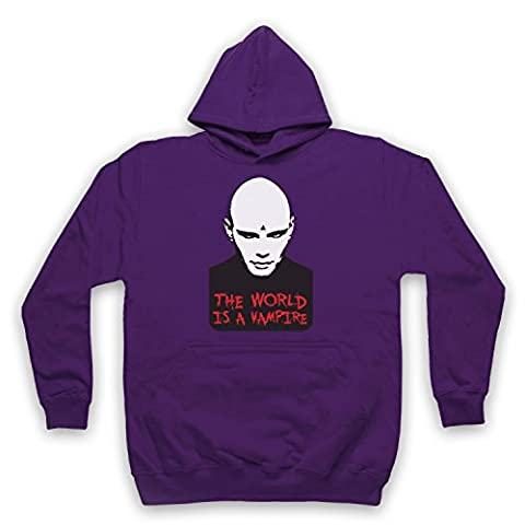 Inspired by Smashing Pumpkins Bullet Butterfly Wings Unofficial Adults Hoodie, Purple, 2XL