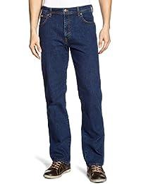 Mens Wrangler Texas Stretchable Denim Jeans Dark stone 36 waist 32 Leg