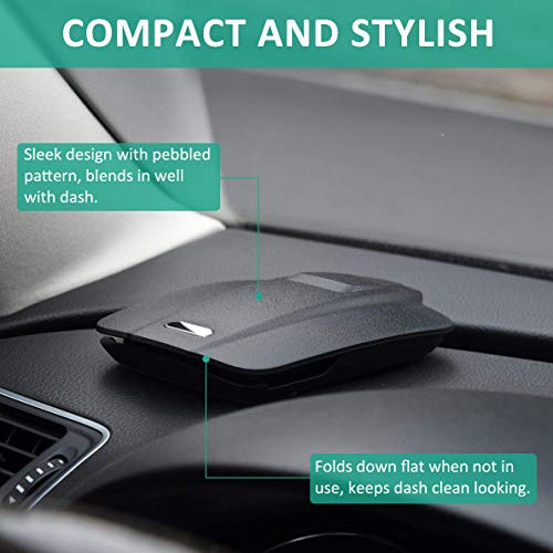 """Cocoda Supporto Auto Smartphone, Porta Cellulare Auto per Cruscotto Facile Apertura e Pieghevole Compatibile con Telefoni Cellulari da 3,5"""" a 6,5"""" e Altro"""