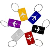Wstorm Metal Aluminum Travel Luggage ID Tags Suitcase Bag Labels, Pack of 6 Assorted Colours