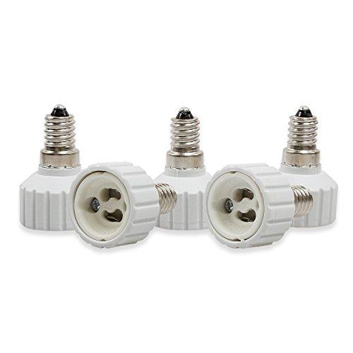 Onviantech E14vers GU105-pack support de lampe convertisseur Base ampoule Socket Adapter lumière LED Adaptateur convertisseur