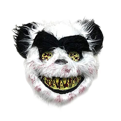 Professionelle Kostüm Werwolf - Halloween Panda Maske, Kunstpelz Kopfbedeckung Plüsch Tier Panda Kopf Scary Maske für Maskerade Kostüm Party Maske
