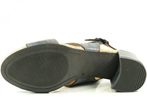 Tamaris 1-28383-38 Damen Sandalen Sandaletten Blau