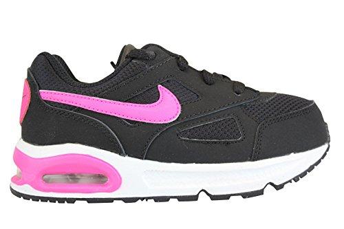 Nike Mädchen Air Max Ivo (TD) Lauflernschuhe, Schwarz / Pink / Schwarz...