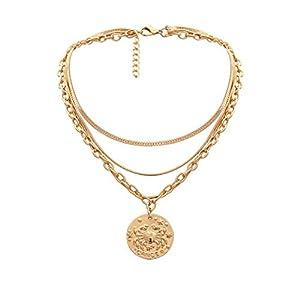 DQANIU Heiß!!! Damen-Halsketten-kreativer Legierungs-mehrschichtige Kettenhalsketten-Frauen-Schmuck, bestes Geburtstags- / Valentinstag- / Jahrestagsgeschenk für Frauen-Mädchen