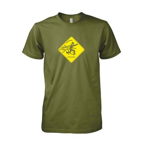 TEXLAB - Beware of Cthulhu - T-Shirt, Herren Oliv