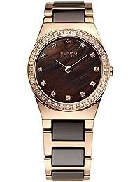 Bering Time Damen-Armbanduhr XS Analog Quarz verschiedene Materialien 32426-765