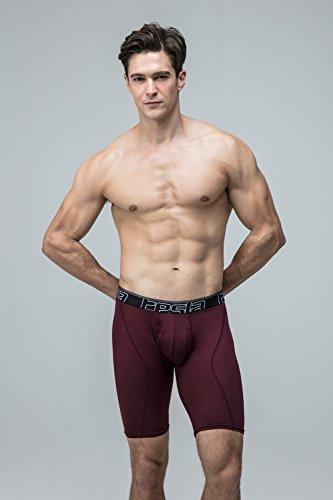 Tesla da uomo Cool Dry 22,9cm breve maglia stretch Underwear tronco (2-pack) MBU03 Z-TM-MBU03-BRP