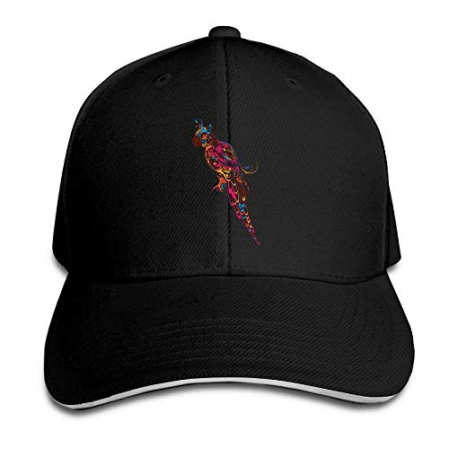 Kotdeqay Unisex Snapback Hip Hop Flat Hat Outdoor Capss Parrot Classic Adjustable OL4414
