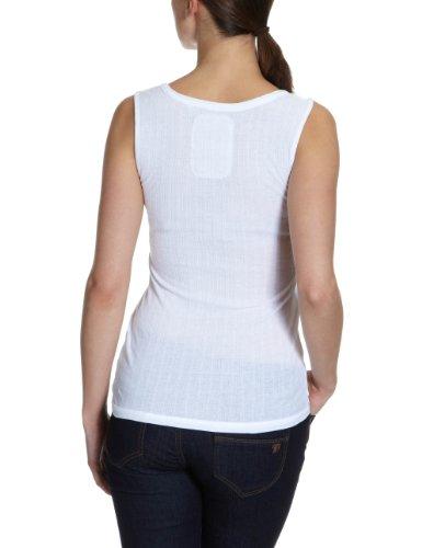 VERO MODA Damen Top, 10077375 Tammi Placket Top Weiß (OPT.WHITE)