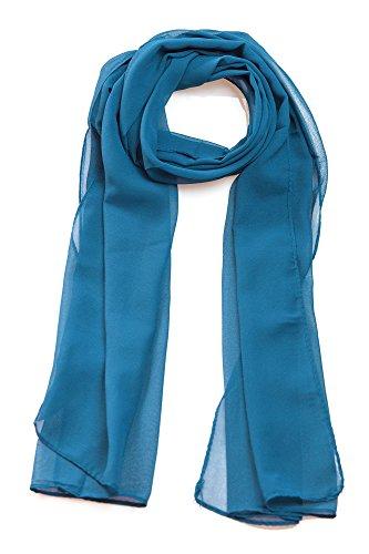 Frühlingsschal Sommerschal Schal Halstuch Unifarben (einfarbig) für Frühling und Sommer 100% Viskose (stahlblau)